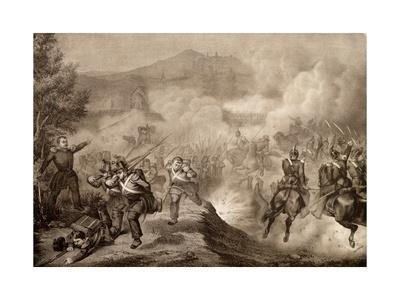 Battle of Palestrina, May 9, 1849, First War of Independence, Italy--Framed Giclee Print