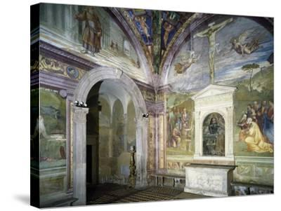 Chapel of Assumption with Frescoes--Stretched Canvas Print