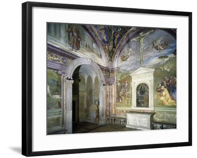 Chapel of Assumption with Frescoes--Framed Giclee Print