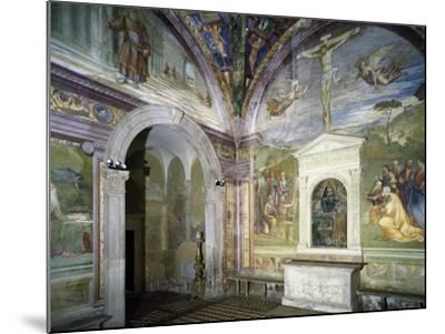 Chapel of Assumption with Frescoes--Mounted Giclee Print
