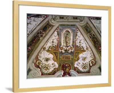 Detail from Hall of Fishing of Villa Lante, Bagnaia, Italy, 16th Century--Framed Giclee Print