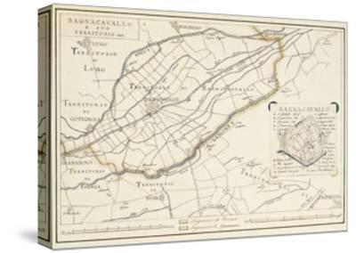 Map of Bagnocavallo, Province of Ravenna, Italy, 1850--Stretched Canvas Print