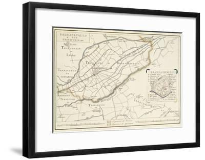 Map of Bagnocavallo, Province of Ravenna, Italy, 1850--Framed Giclee Print