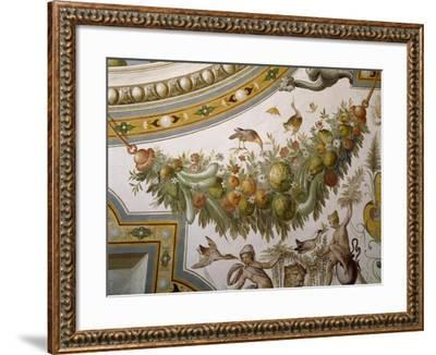 Fantastical Patterns and Festoon with Fruit and Flowers, from Vault of Hall of Victory--Framed Giclee Print