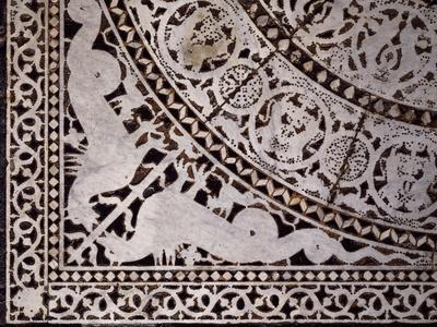 Detail from Original Marble Floor, Baptistery of San Giovanni Battista--Framed Giclee Print