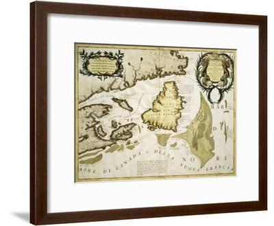 Map of Eastern Canada and Newfoundland, 1692--Framed Giclee Print