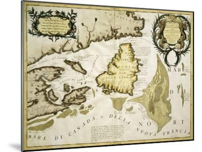 Map of Eastern Canada and Newfoundland, 1692--Mounted Giclee Print