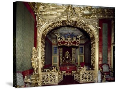Glimpse of Nuptial Chamber, with Decorations, Rocca Meli, Lupi of Soragna, Near Parma--Stretched Canvas Print