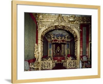 Glimpse of Nuptial Chamber, with Decorations, Rocca Meli, Lupi of Soragna, Near Parma--Framed Giclee Print