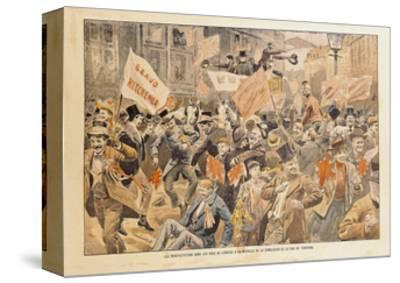 Celebrations in the Streets of London Following the News of Conclusion of Peace in the Transvaal--Stretched Canvas Print