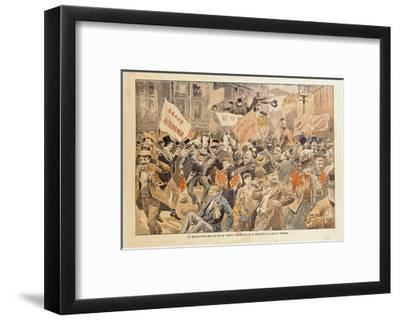Celebrations in the Streets of London Following the News of Conclusion of Peace in the Transvaal--Framed Giclee Print