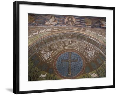 Apsidal Semi-Dome Decorated with Mosaics in the Basilica of St Apollinaris in Classe--Framed Photographic Print