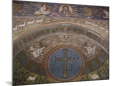 Apsidal Semi-Dome Decorated with Mosaics in the Basilica of St Apollinaris in Classe--Mounted Photographic Print