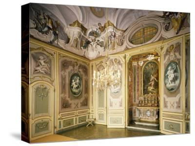 St Hubert's Ante-Chapel and Chapel, Stupinigi's Little Hunting Palace--Stretched Canvas Print