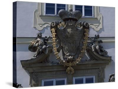Architectural Detail from Valtice Castle--Stretched Canvas Print