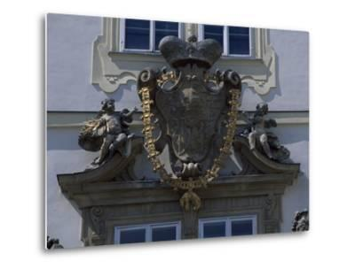 Architectural Detail from Valtice Castle--Metal Print