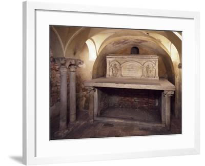 Italy, Milan, Basilica of Sant'Ambrogio, Ciel D'Oro, Oratory of San Vittore--Framed Giclee Print
