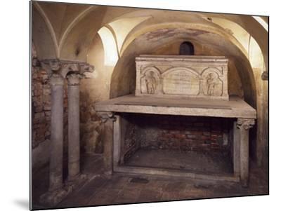 Italy, Milan, Basilica of Sant'Ambrogio, Ciel D'Oro, Oratory of San Vittore--Mounted Giclee Print