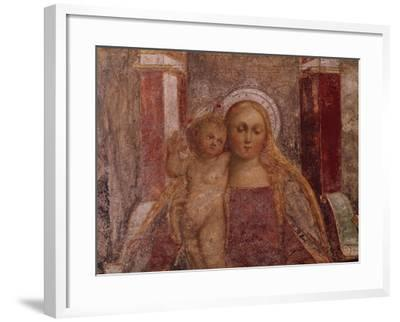 Enthroned Madonna and Child from Basilica of San Giulio, Island of San Giulio, Orta San Giulio--Framed Giclee Print
