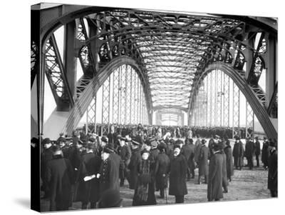 The Opening of the Okhtinsky Bridge, St Petersburg, 1911--Stretched Canvas Print