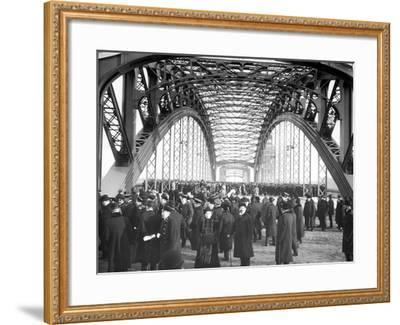 The Opening of the Okhtinsky Bridge, St Petersburg, 1911--Framed Photographic Print