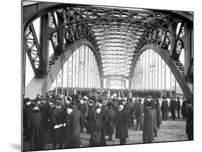 The Opening of the Okhtinsky Bridge, St Petersburg, 1911--Mounted Photographic Print