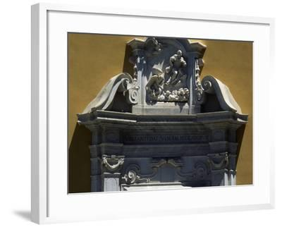 White Marble Pediment, Door to the Church of the Suffrage--Framed Giclee Print