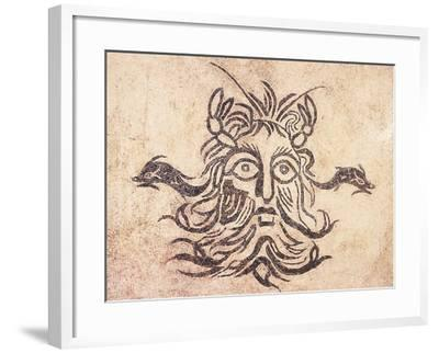 Floor Mosaic Depicting God Oceanus, from Cividale Baths, Friuli Venezia Giulia--Framed Giclee Print