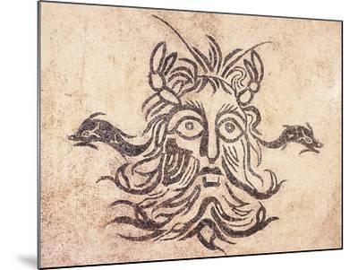 Floor Mosaic Depicting God Oceanus, from Cividale Baths, Friuli Venezia Giulia--Mounted Giclee Print