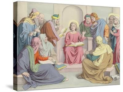 Jesus Is Found in the Temple--Stretched Canvas Print