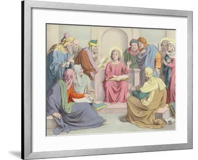 Jesus Is Found in the Temple--Framed Giclee Print