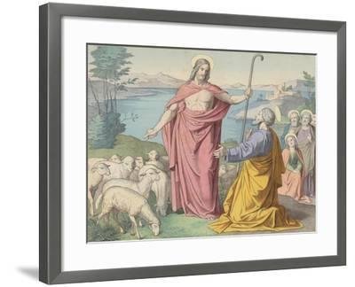 Jesus Appears to Peter, His Vicar on Earth--Framed Giclee Print