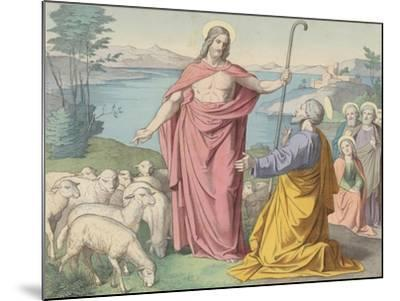 Jesus Appears to Peter, His Vicar on Earth--Mounted Giclee Print