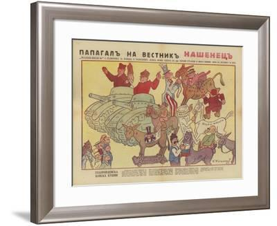 Bulgarian WW2 Political Cartoon--Framed Giclee Print
