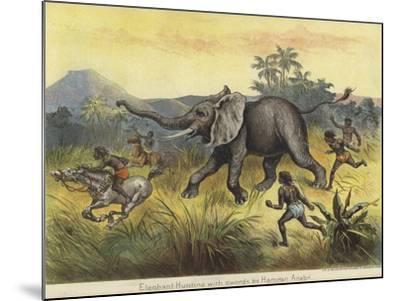 Elephant Hunting with Swords by Hamran Arabs--Mounted Giclee Print