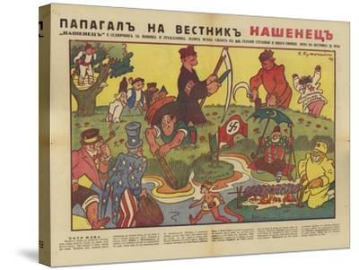 Bulgarian WW2 Political Cartoon--Stretched Canvas Print