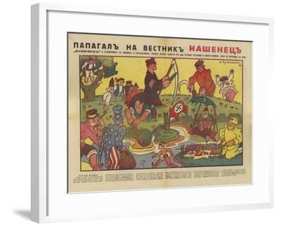 Bulgarian WW2 Political Cartoon--Framed Giclee Print