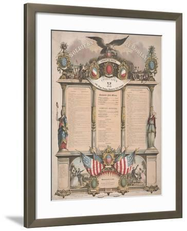 Soldiers' Memorial, 1863--Framed Giclee Print