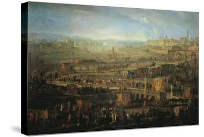 Austria, Vienna, the Parade of French Ambassadors, Marquis Mirepoix in Vienna, October 12, 1738--Stretched Canvas Print