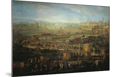 Austria, Vienna, the Parade of French Ambassadors, Marquis Mirepoix in Vienna, October 12, 1738--Mounted Giclee Print