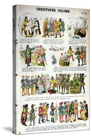 Illustrated History of Christopher Columbus--Stretched Canvas Print
