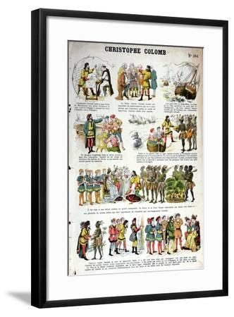 Illustrated History of Christopher Columbus--Framed Giclee Print