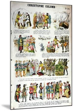 Illustrated History of Christopher Columbus--Mounted Giclee Print