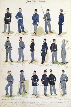 Uniforms of Municipal Financial Guards, 1860-1866--Framed Giclee Print