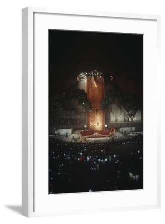 Mexico, Mexico City, Religious Celebration in Basilica of Our Lady of Guadalupe--Framed Giclee Print
