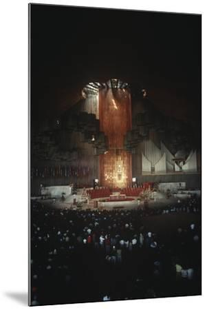 Mexico, Mexico City, Religious Celebration in Basilica of Our Lady of Guadalupe--Mounted Giclee Print