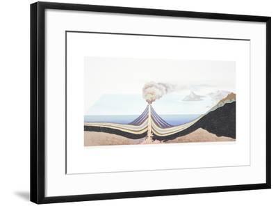 Volcanic Eruption at Sea--Framed Giclee Print