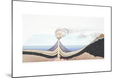 Volcanic Eruption at Sea--Mounted Giclee Print