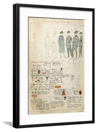 Albanian, Czechoslovakian and Polish Volunteer Uniforms of Kingdom of Italy--Framed Giclee Print