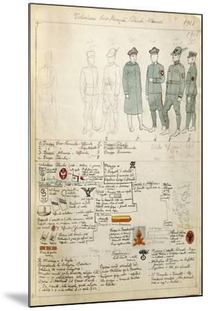 Albanian, Czechoslovakian and Polish Volunteer Uniforms of Kingdom of Italy--Mounted Giclee Print
